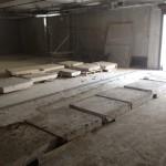 Демонтаж бетонного пола паркинга
